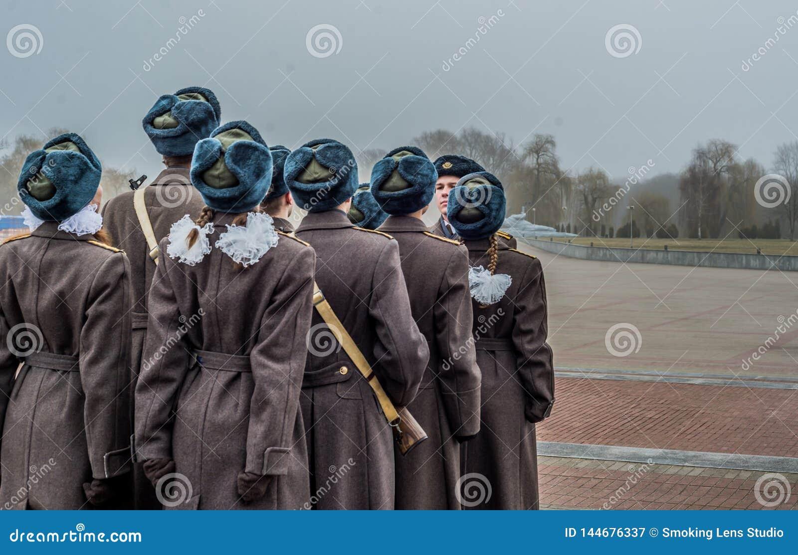 Soldados en Brest Bielorrusia