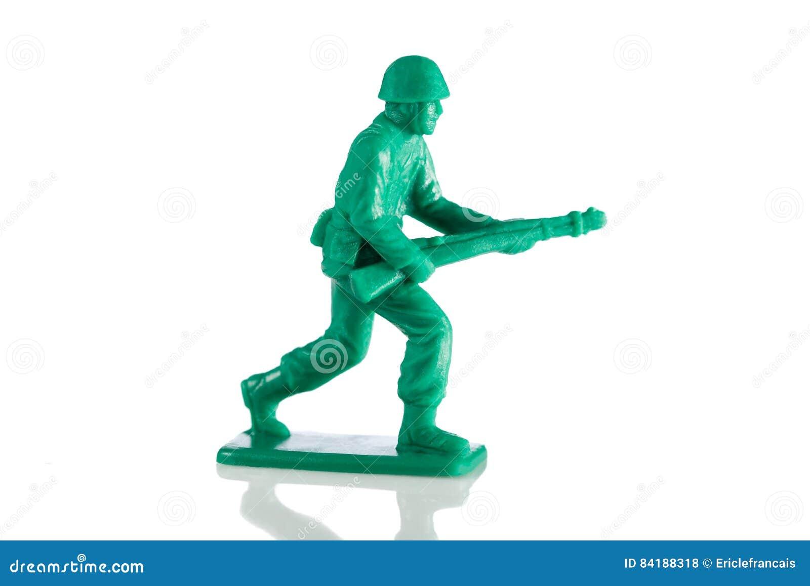 Soldat de jouet de plastique miniature