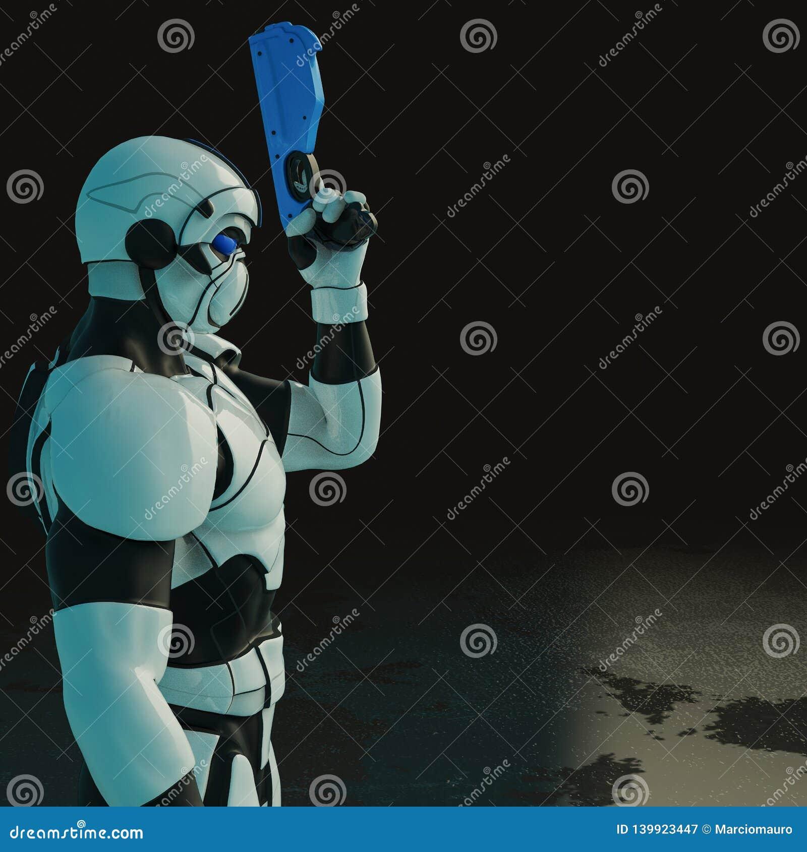 Soldat in einem dunklen Hintergrund