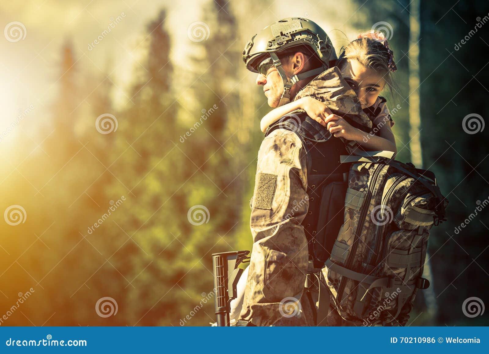 Soldat som hem går tillbaka