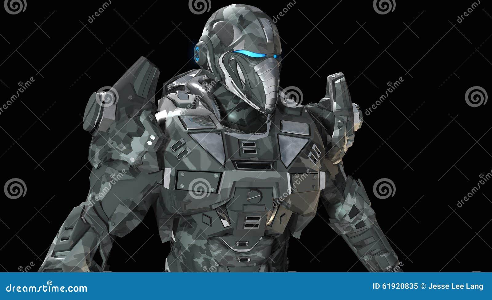 Soldat superbe avancé