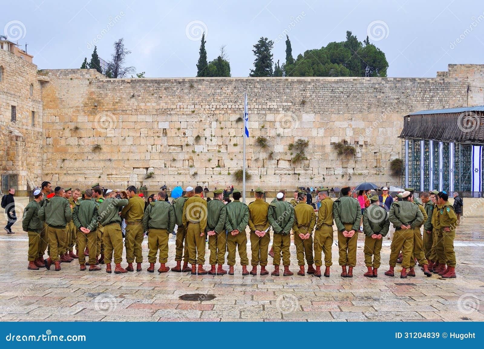 Soldaten an der Klagemauer, Jerusalem Israel