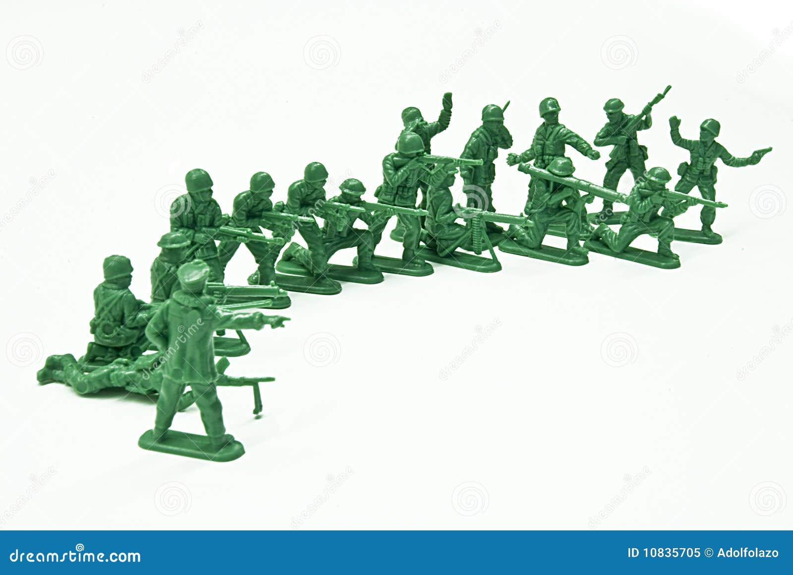 Soldats de jouet de peloton
