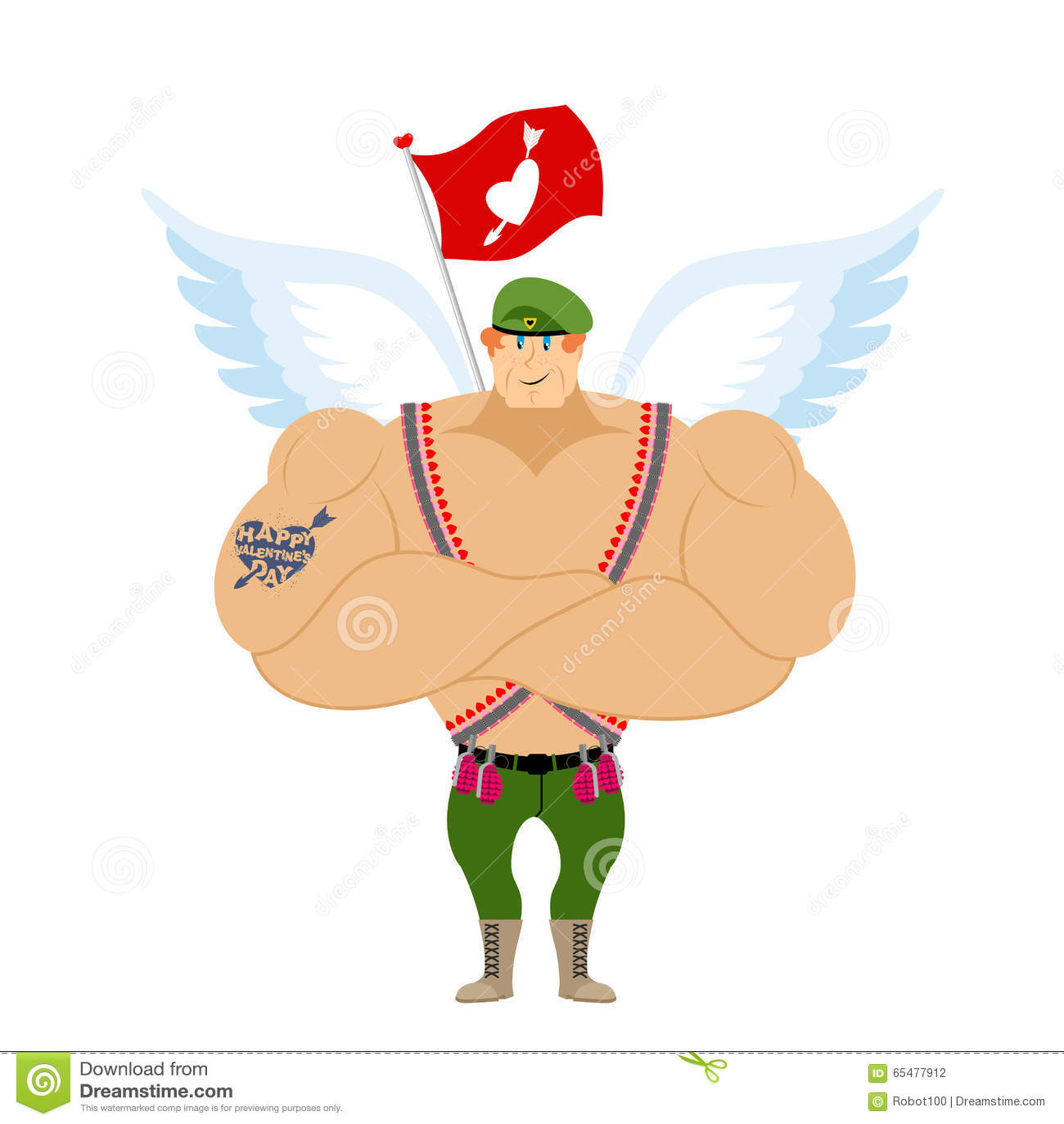 Soldats de la cavalerie de cupidon atterrissage ailes ange militaire illustration de vecteur - Image de cupidon gratuite ...