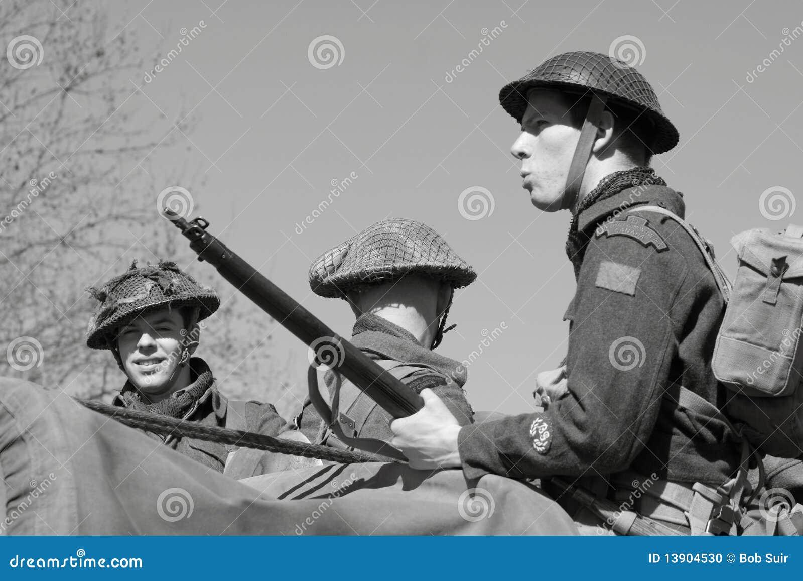 Image éditorial: soldats de la deuxième guerre mondiale