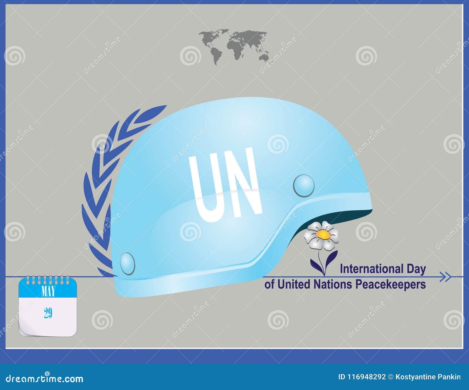 Soldats de la paix des Nations Unies de carte postale