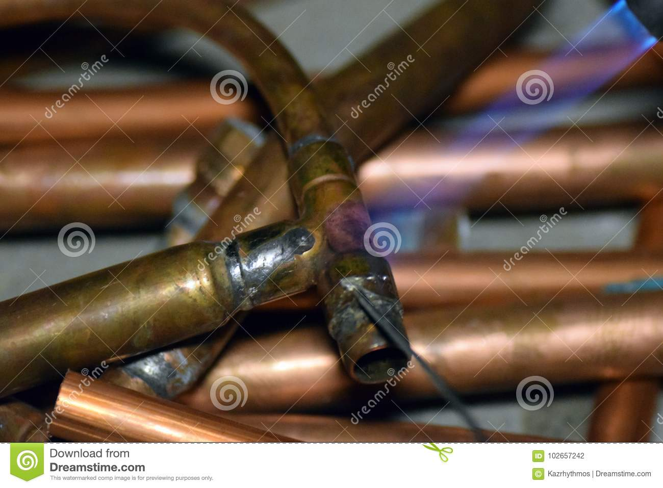 Solder Copper Pipe.