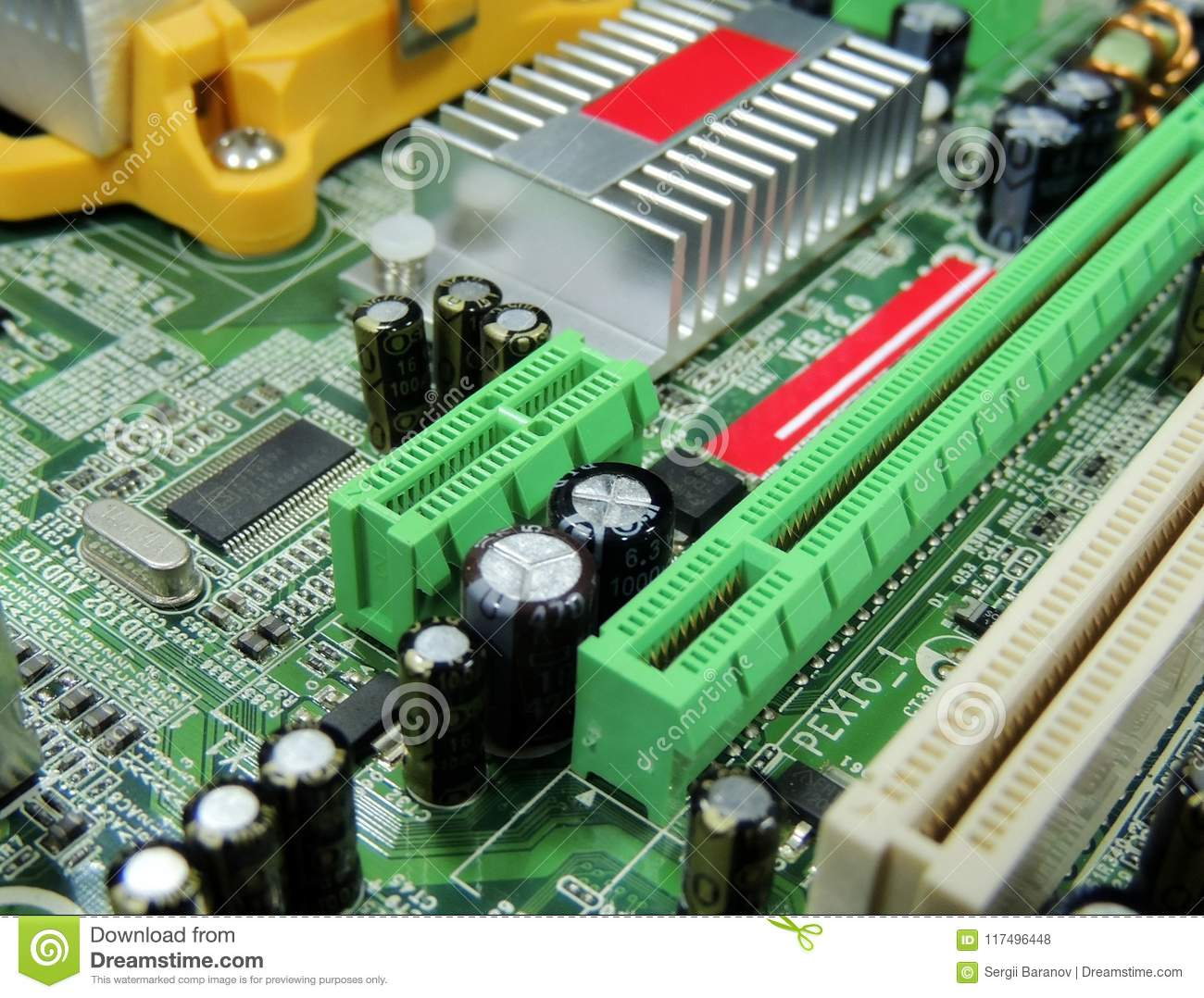 Soldered Radio Components On Computer Circuit Board Close Up Stock With Royalty Free Photos Image Photo