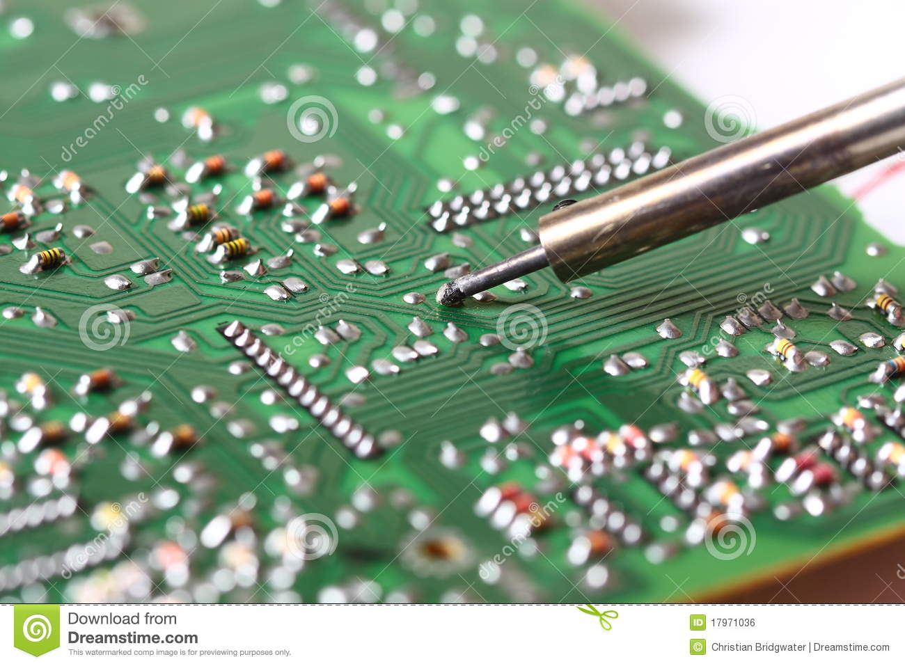 Solder Circuit Board Stock Photos Royalty Free Wiring 11796d12469976383wayswitchdiagramschematic3way6lightsjpg Soldering A Photo Image Of 17971036 Rh Dreamstime Com
