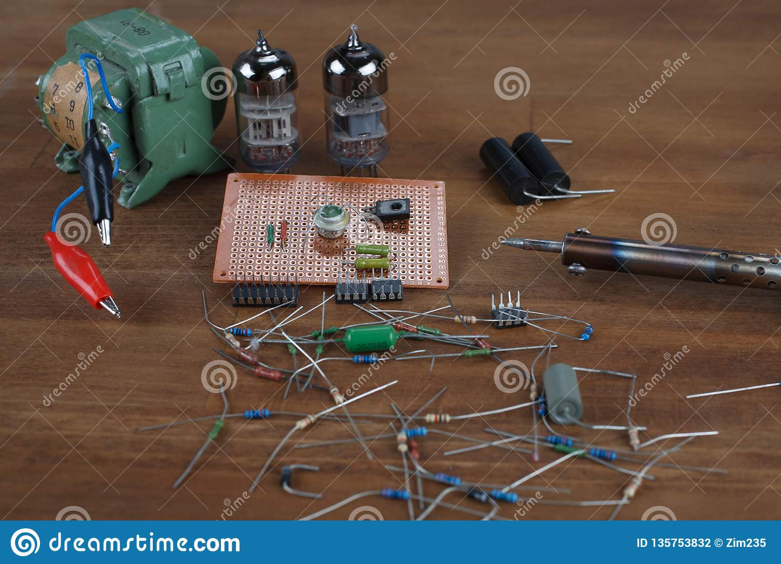 Soldering Iron - Do It Yourself Concept Stock Image
