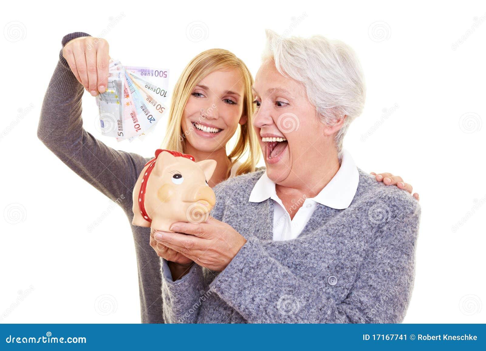 Soldi di risparmio della famiglia per la pensione