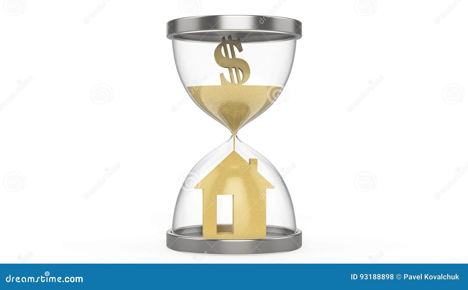 Soldi e casa del dollaro della clessidra dell for E casa com