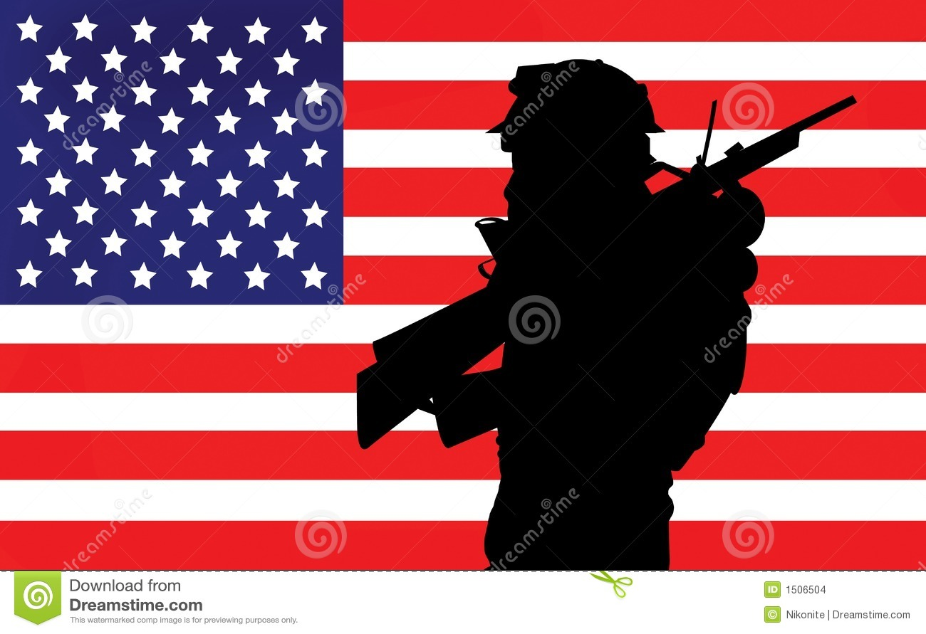 Soldier And American Flag Stock Images - Image: 1506504 Eagle Silhouette Vector