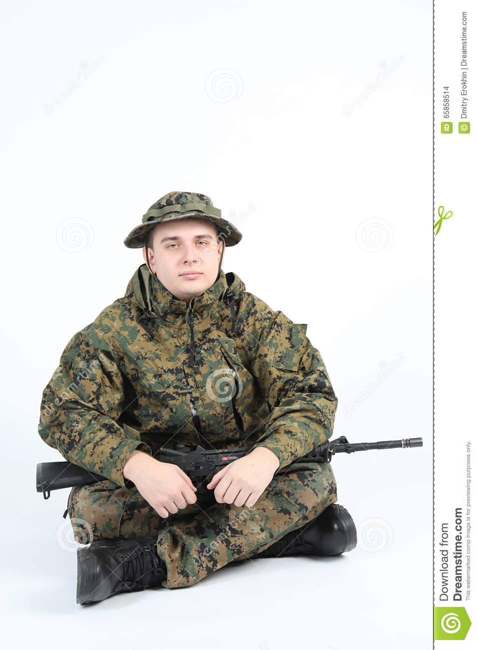 A soldier with gun