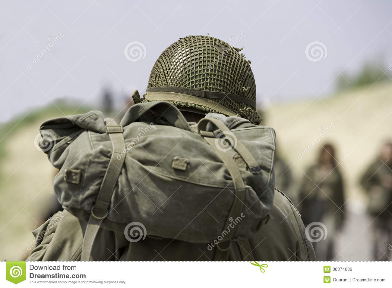 Soldier with helmet