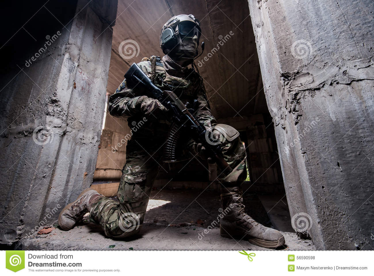 ier hiding in a concrete behind cover where kneeling in the ier hiding in a concrete behind cover where kneeling in the doorway a gun in