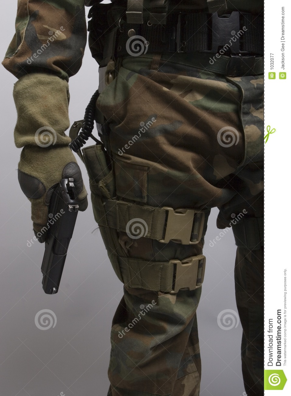 soldier holding a pistol stock image image of path death