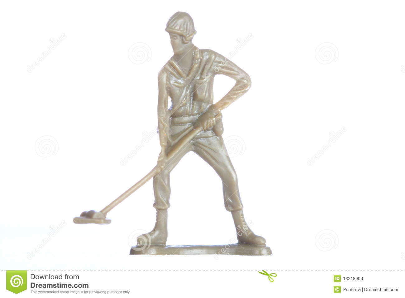 Jew Detector: A Soldier With A Metal Detector Stock Images