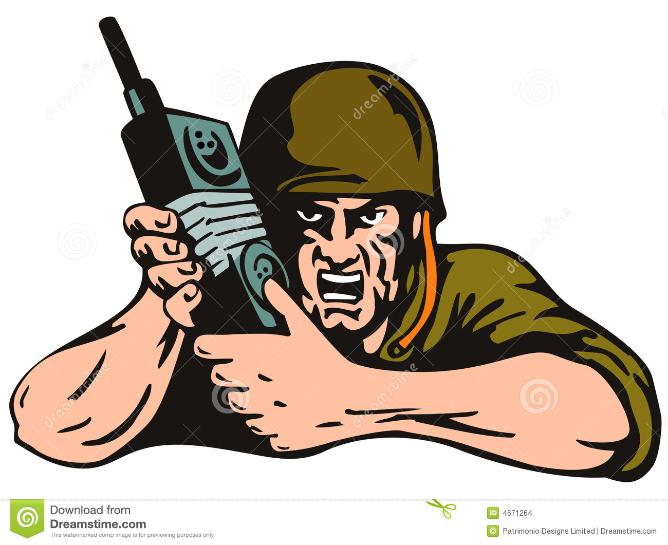 Soldier With Radio Isolated On Stock Images Image 4671264