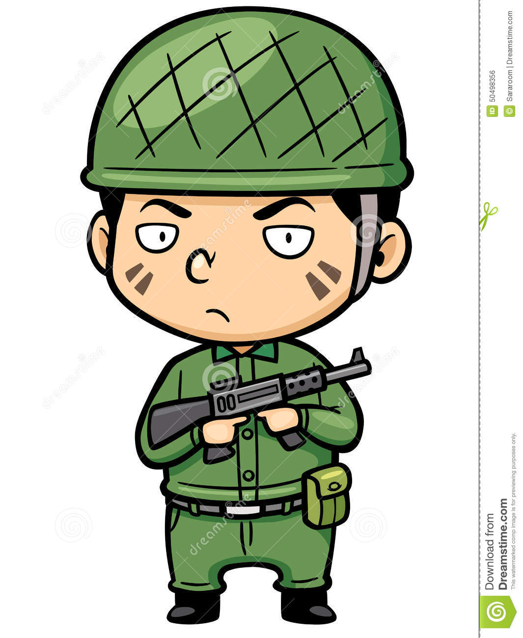Soldier stock vector. Image of illustration, little, armed ...