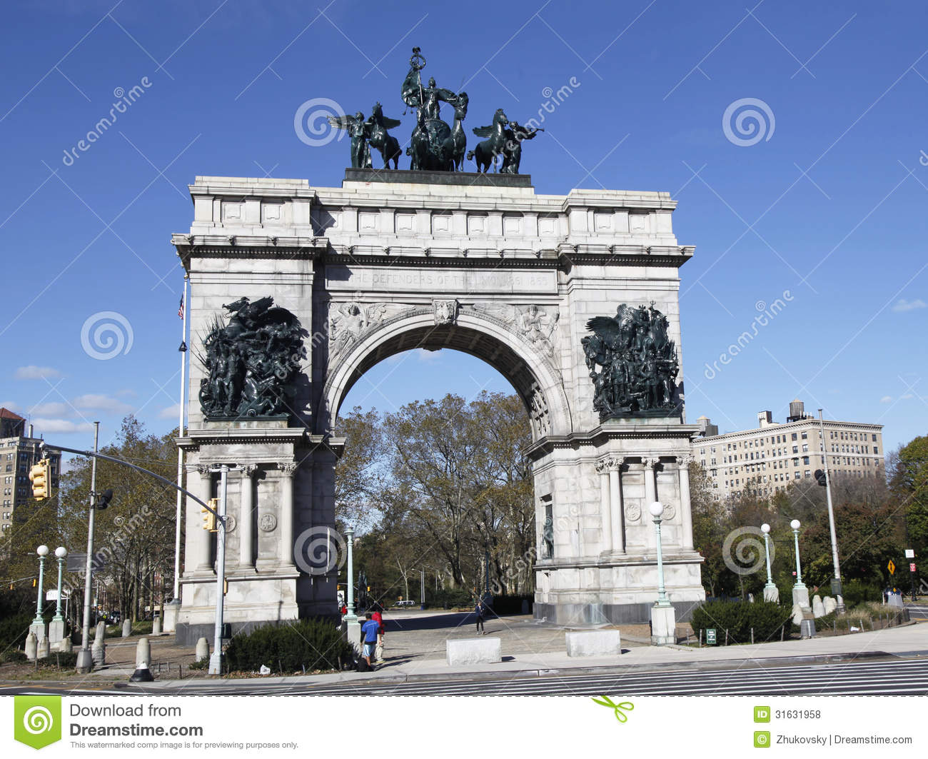 Soldiers And Sailors Monument At The Grand Army Plaza In Brooklyn