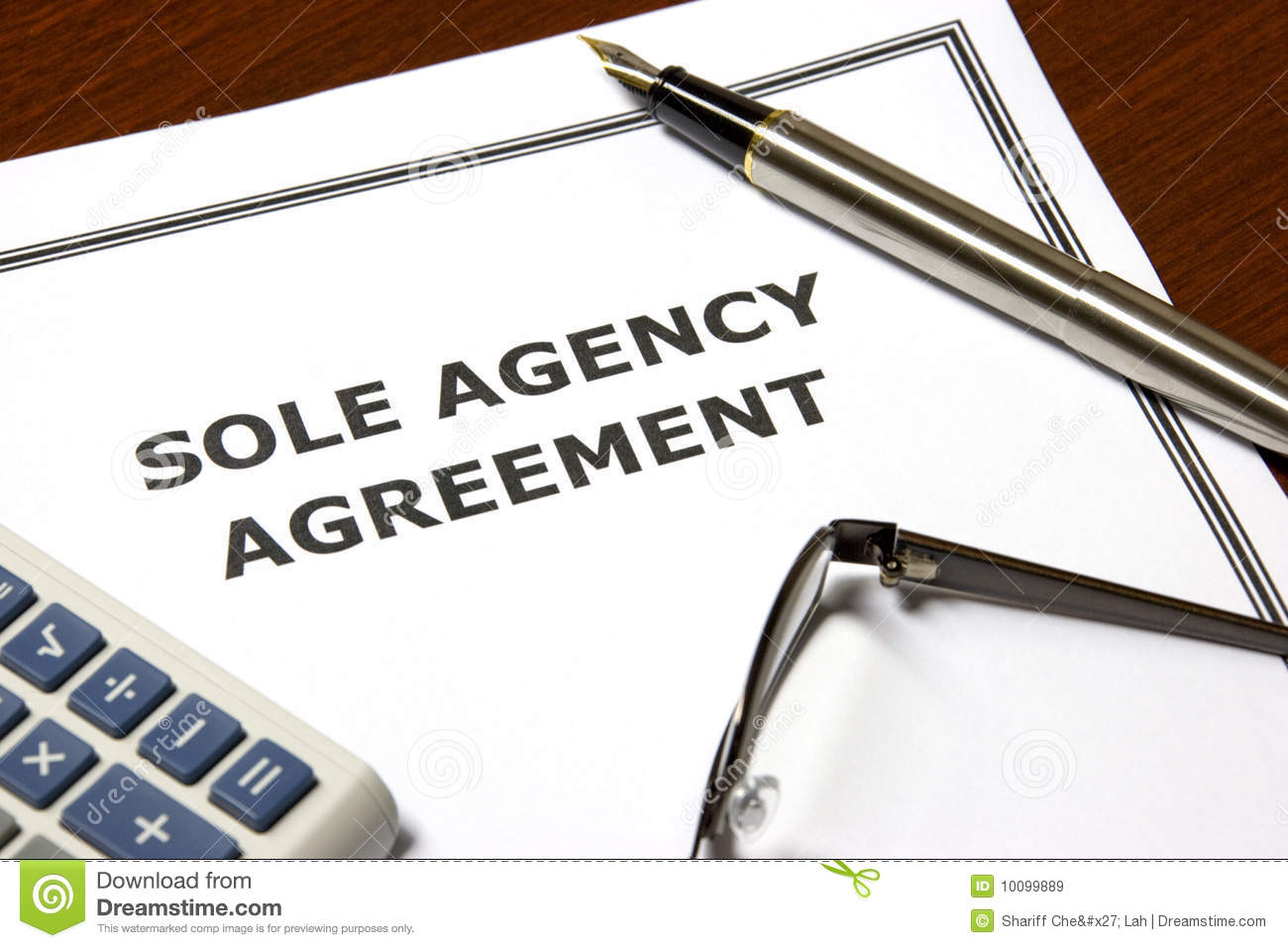 Sole Agency Agreement Royalty Free Images Image 10099889 – Agent Contract Agreement