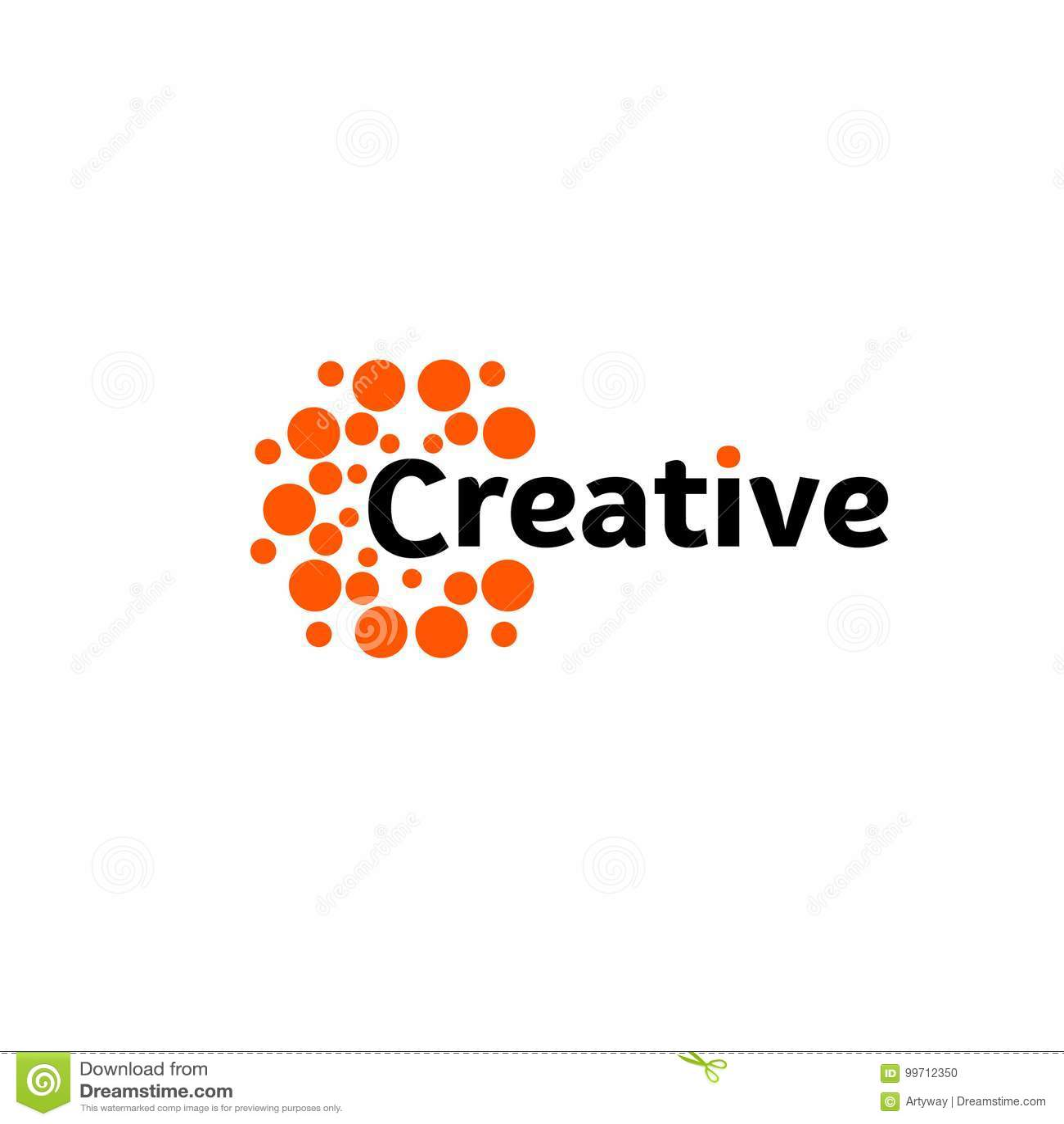 Sole creativo di energia Logo astratto di emisferi del cervello, forme rotonde, modello insolito del logotype di vettore astratto