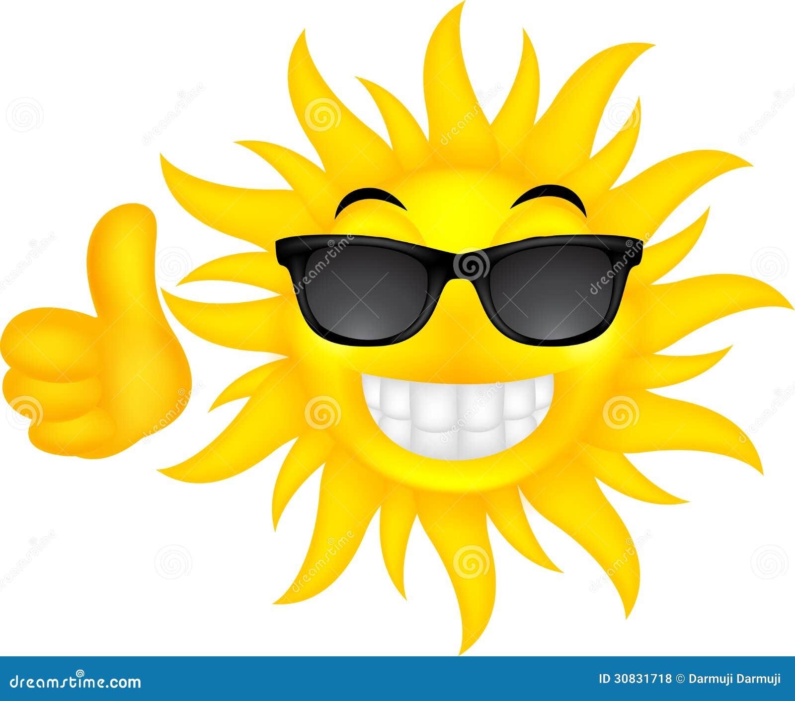 Sole felice di estate con i vetri