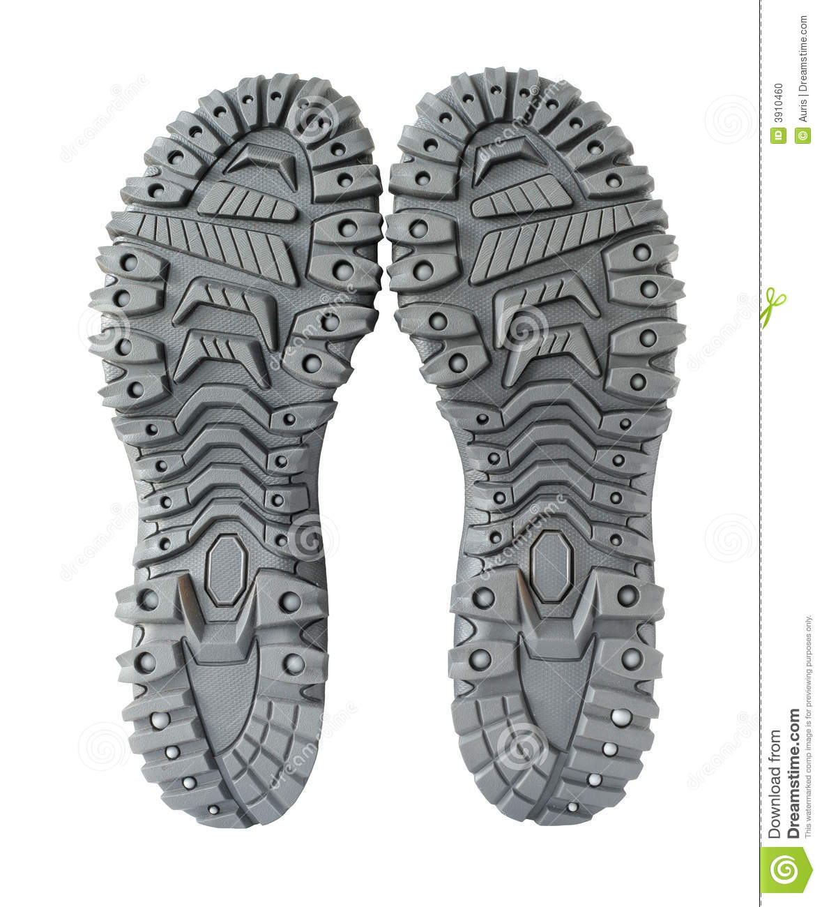 Sole of hiking shoes stock photo. Image