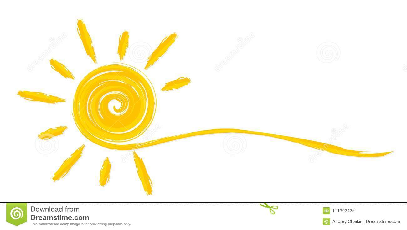 Sole luminoso di estate
