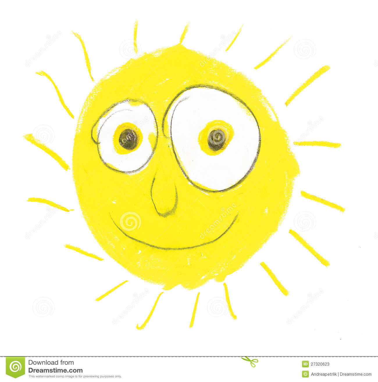 Sole molto sciocco con i grandi occhi