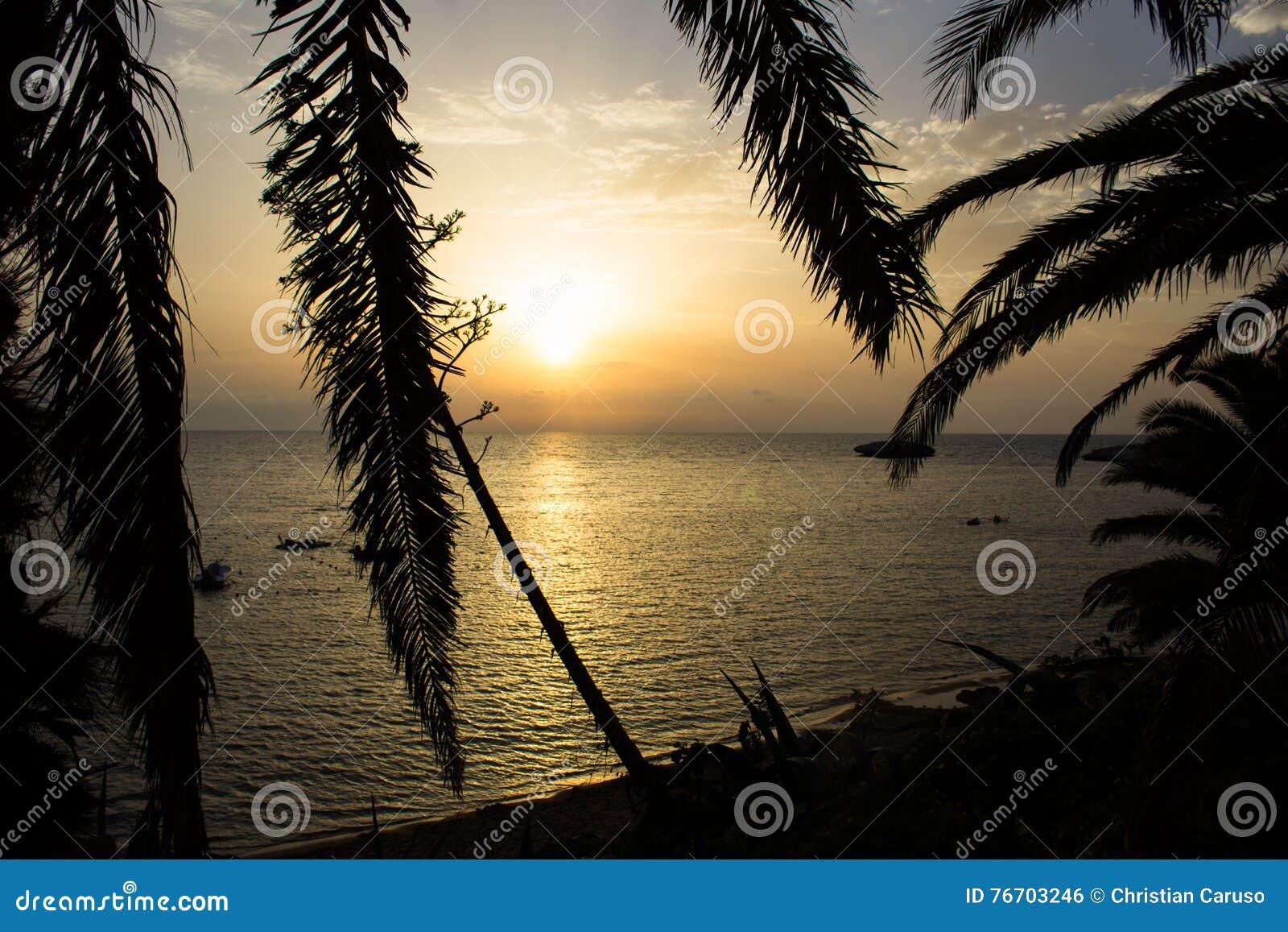 Solen att närma sig för att bevattna att rodna med sinnesrörelse