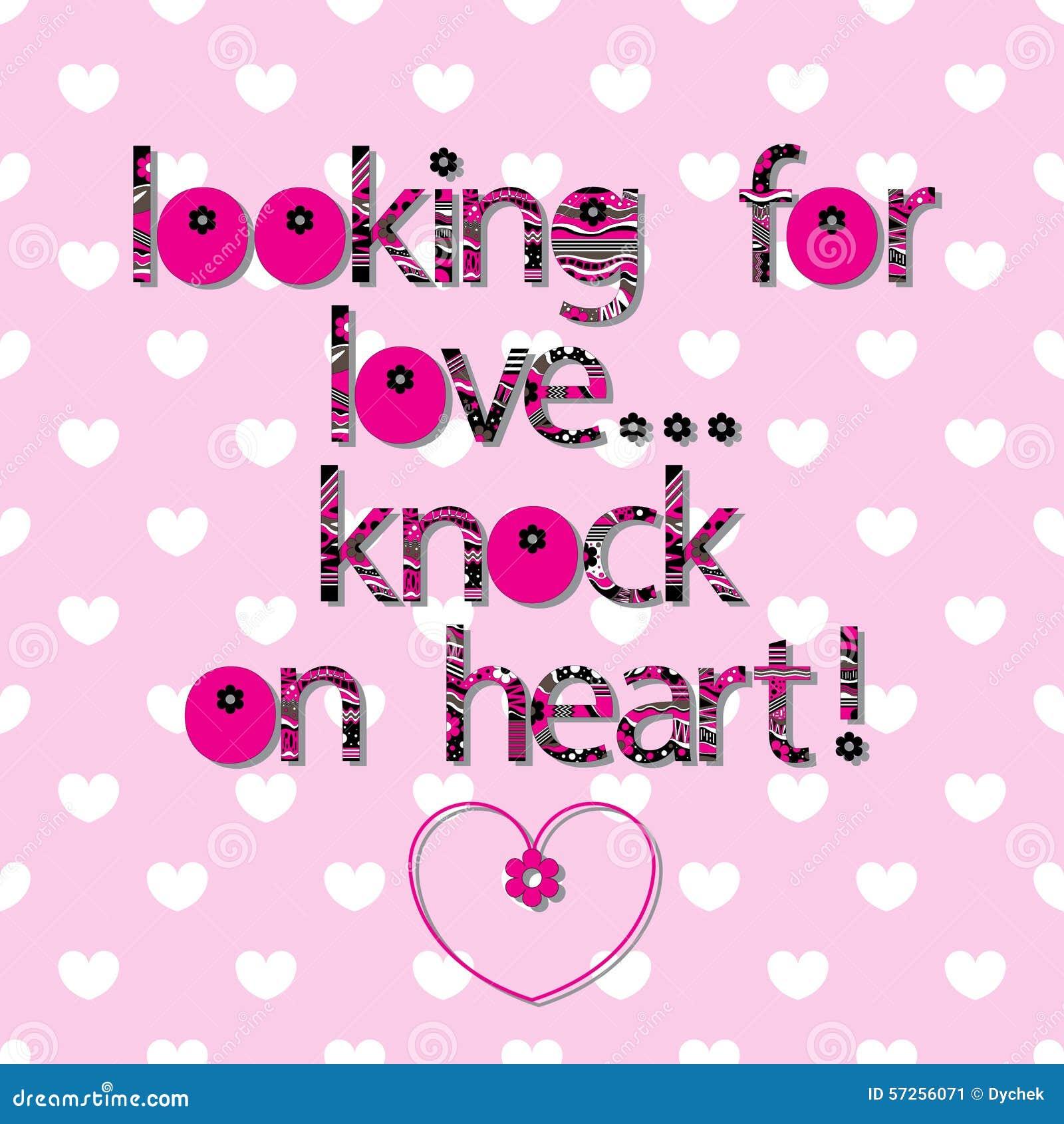 A Soletração Original Da Frase Que Procura O Amor Batida No Coração