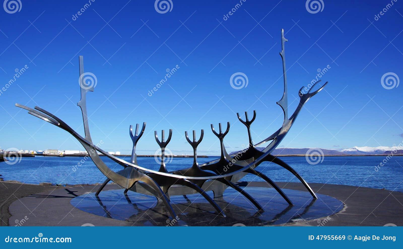 Solfar, Zonreiziger sculpter in Reykjavik in IJsland