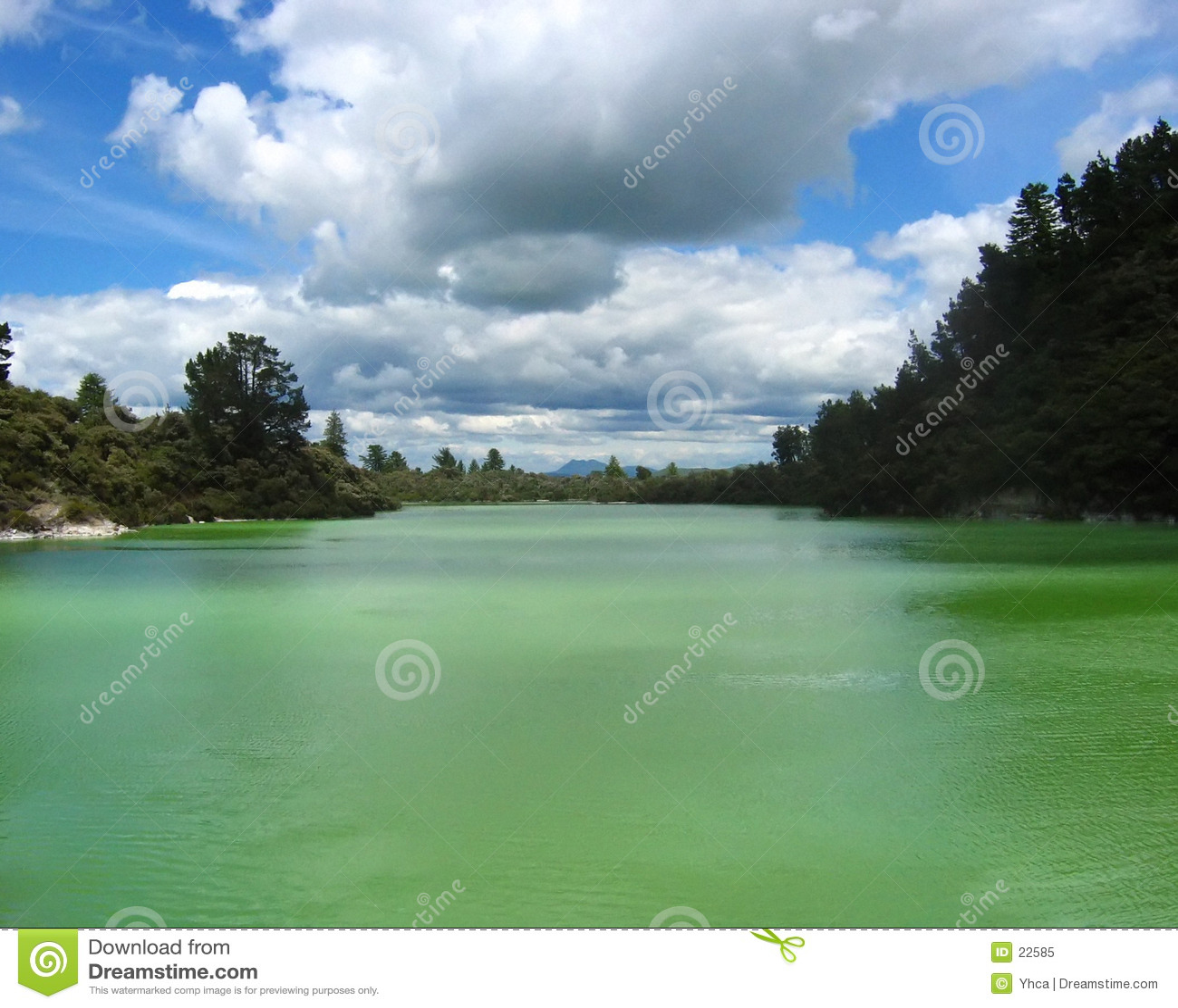 Solfori il lago a Rotorua, NZ.