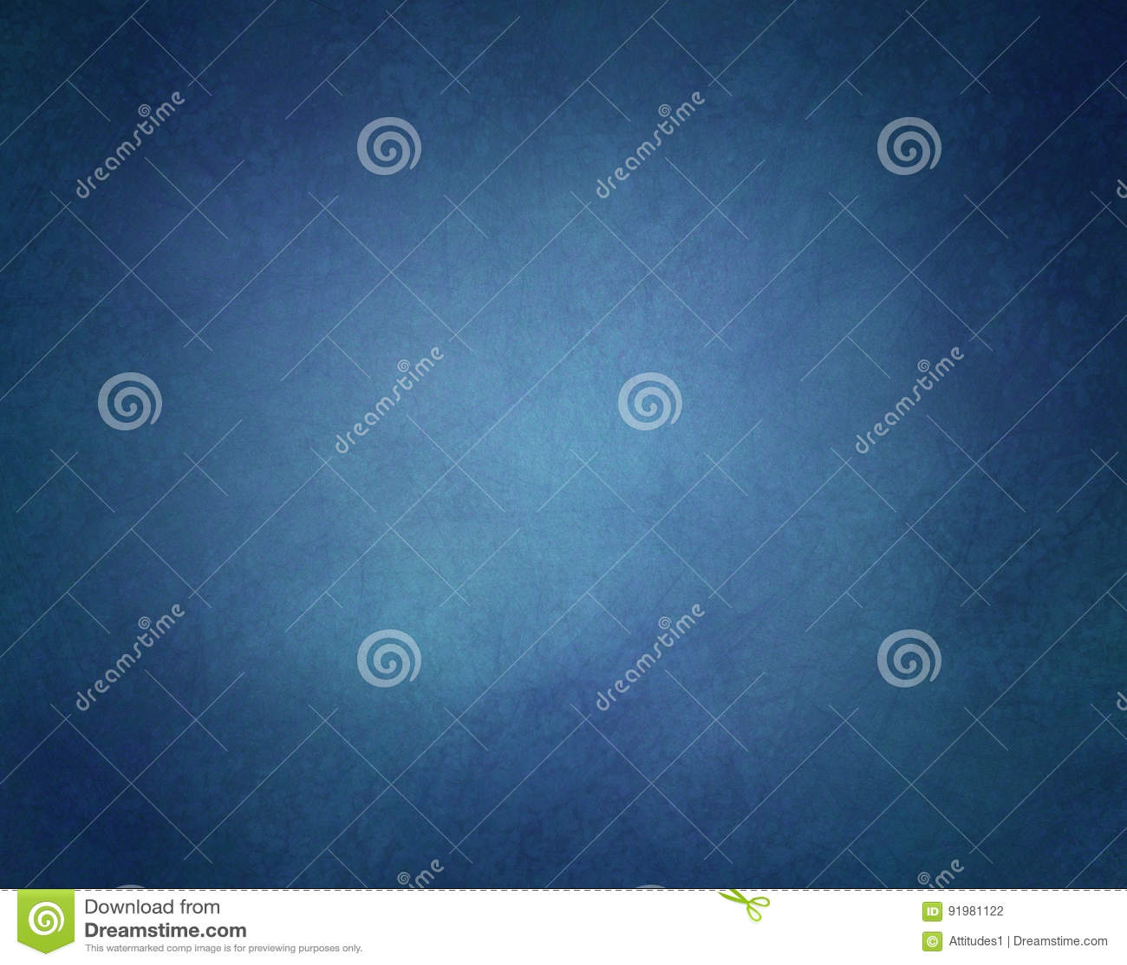 solid blue background with vintage texture and black vignette border