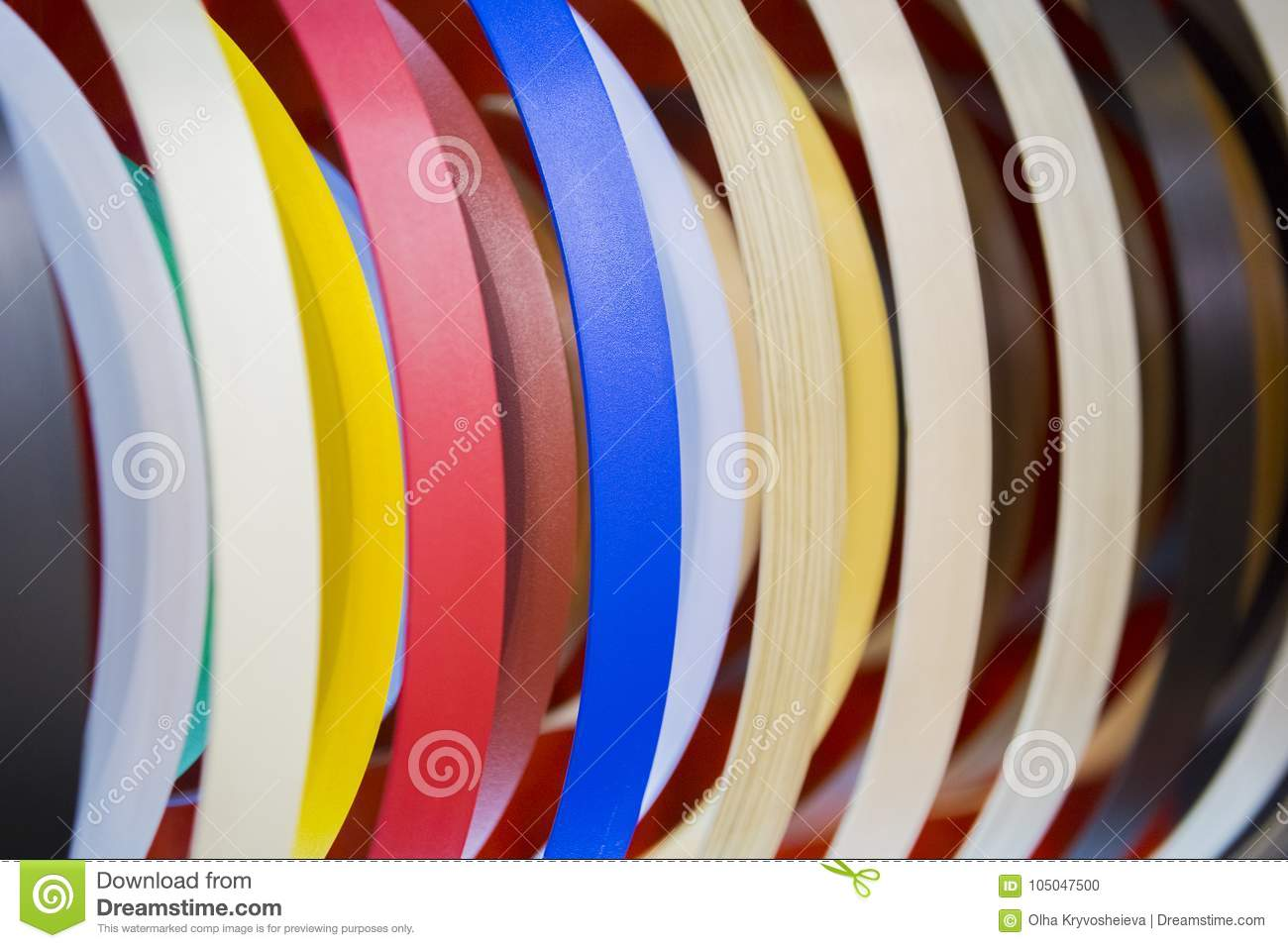 Solid Color Or Wood Grain PVC Edge Banding Tape  ABS Edge