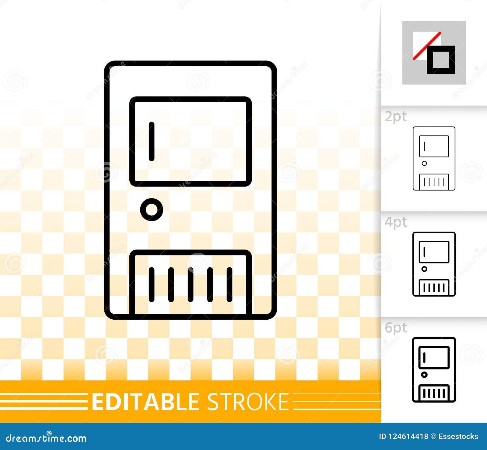 Solid Fuel Boiler Simple Black Line Vector Icon Stock Vector ...