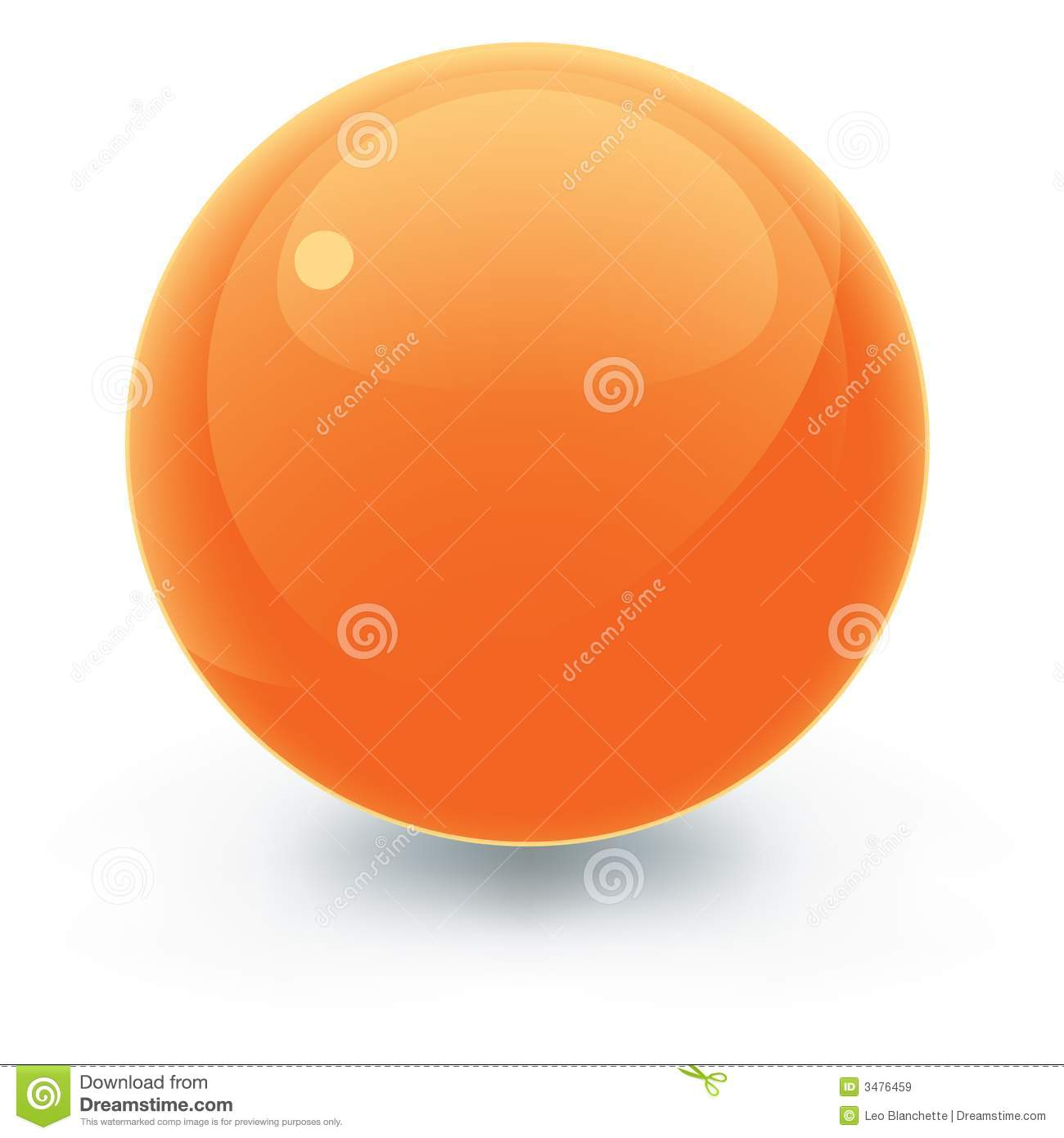 Solid Orange Pool Ball Royalty Free Stock Images Image