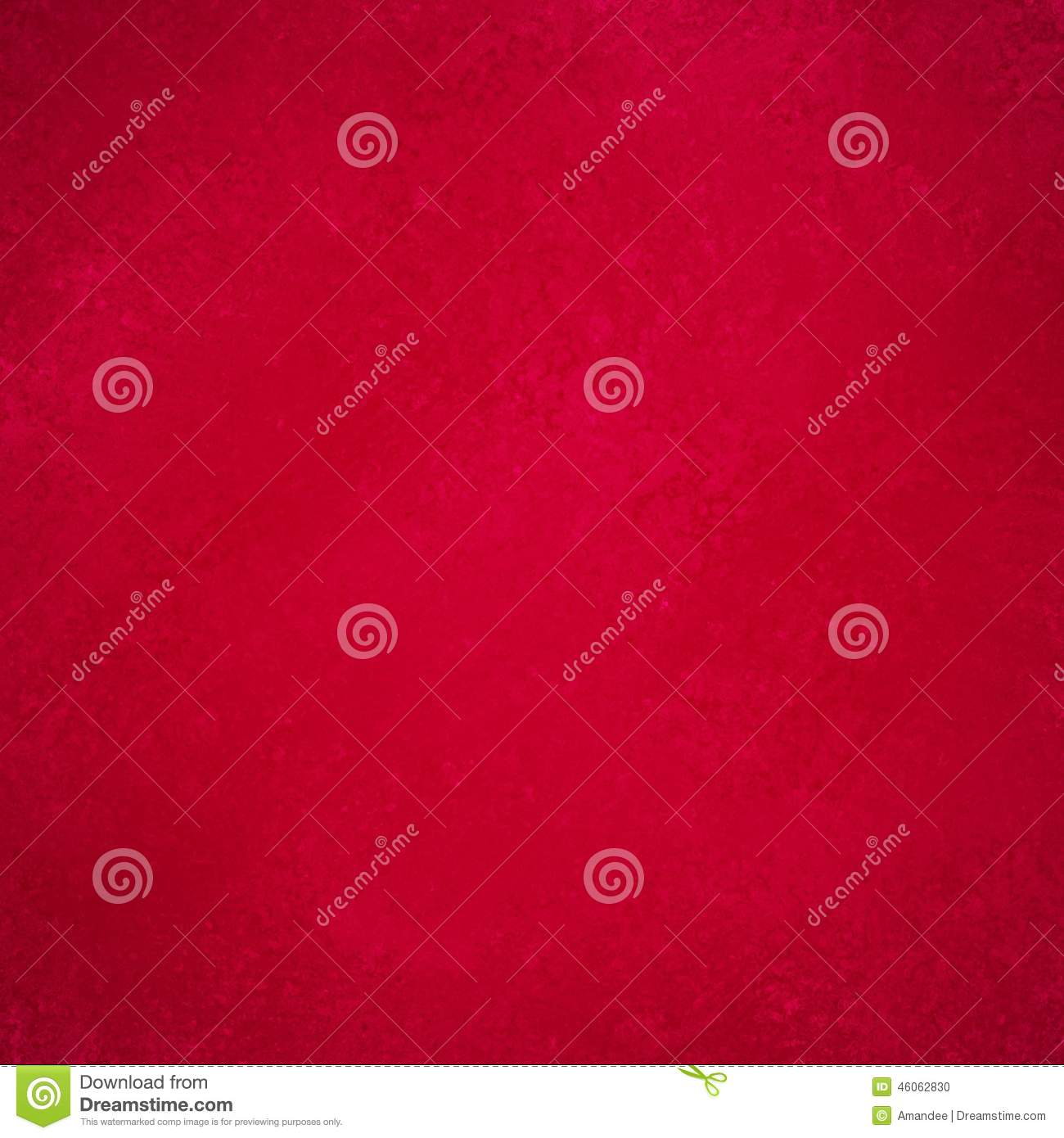 Solid Red Background Paper With Vintage Grunge Texture Design