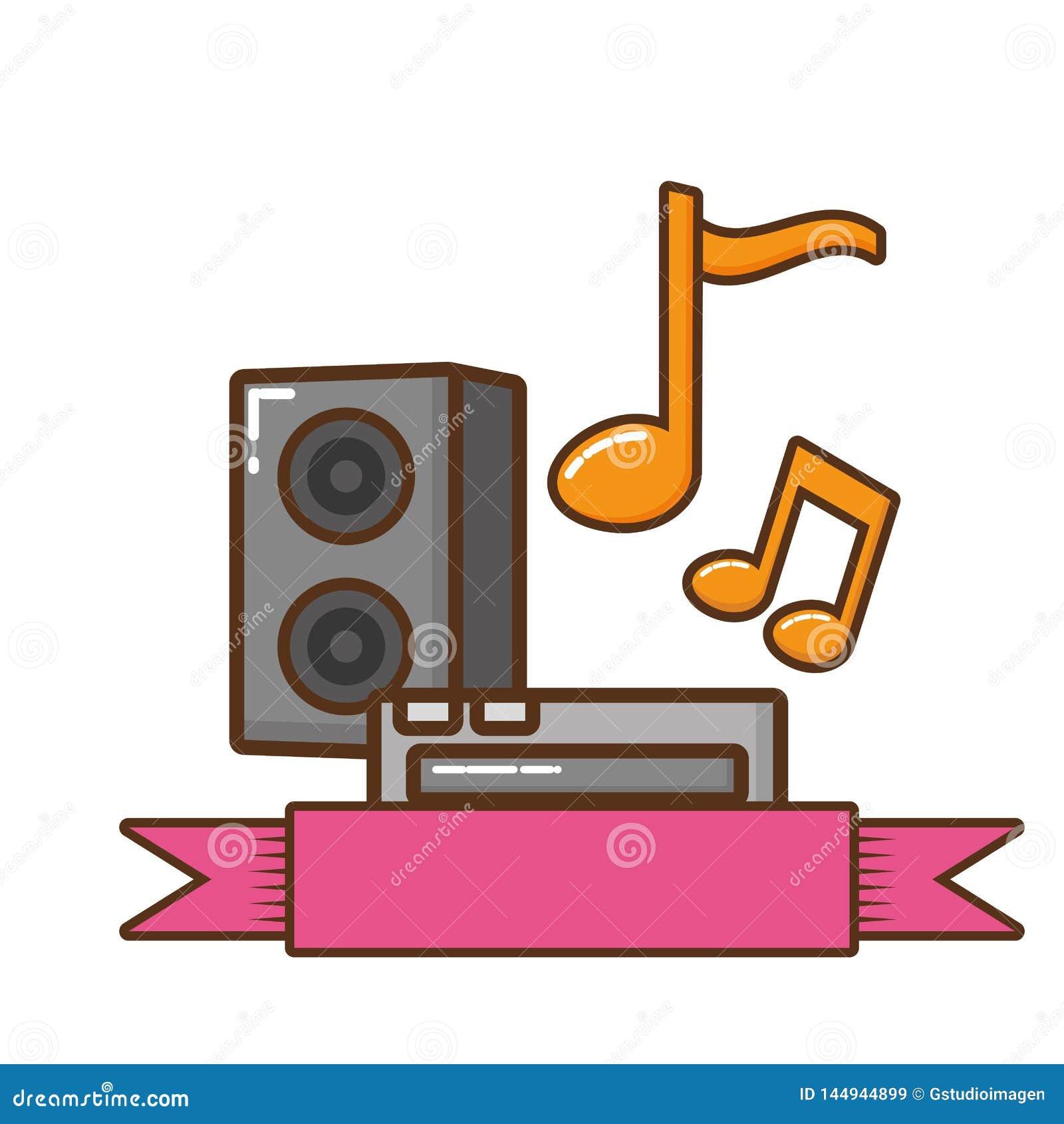 Solid utrustning med symbolen f?r musikaliska anm?rkningar
