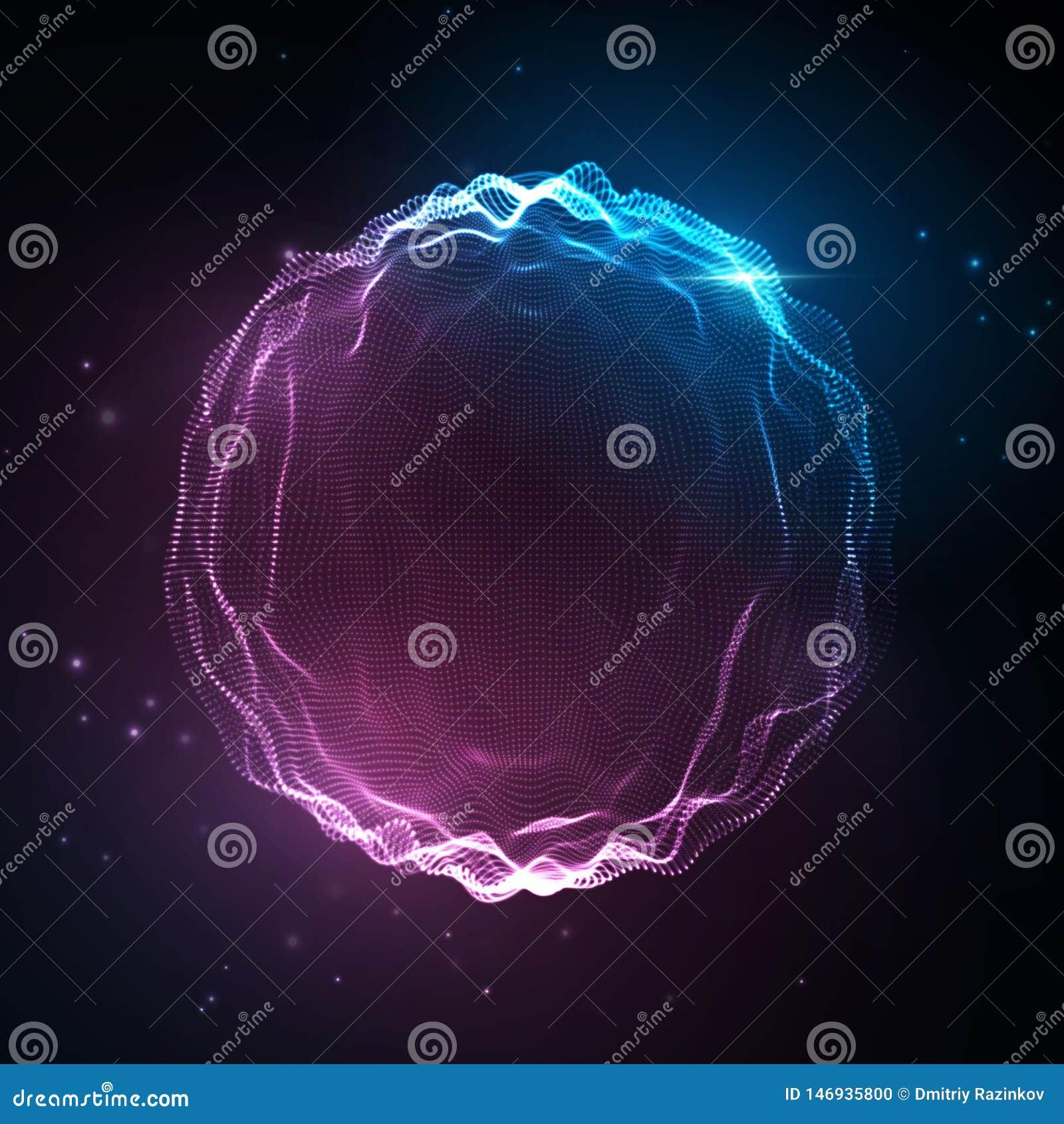 Solid v?g Abstrakt neonbakgrund, vektormusikst?mma, digitalt spektrum f?r s?ngwaveform, ljudsignal puls och frekvens