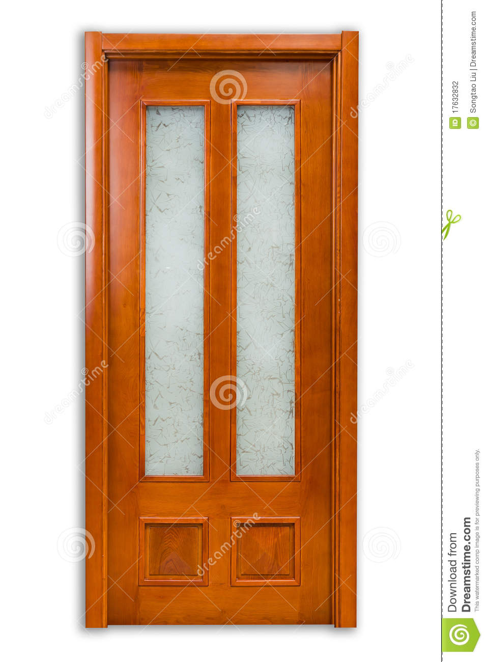 solid wood door stock photography image 17632832