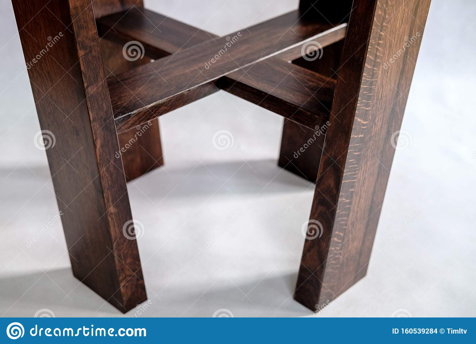 Picture of: Wooden Coffee Table With Acrylic Table Top On White Background Close Up Stock Photo Image Of Material Board 160539284