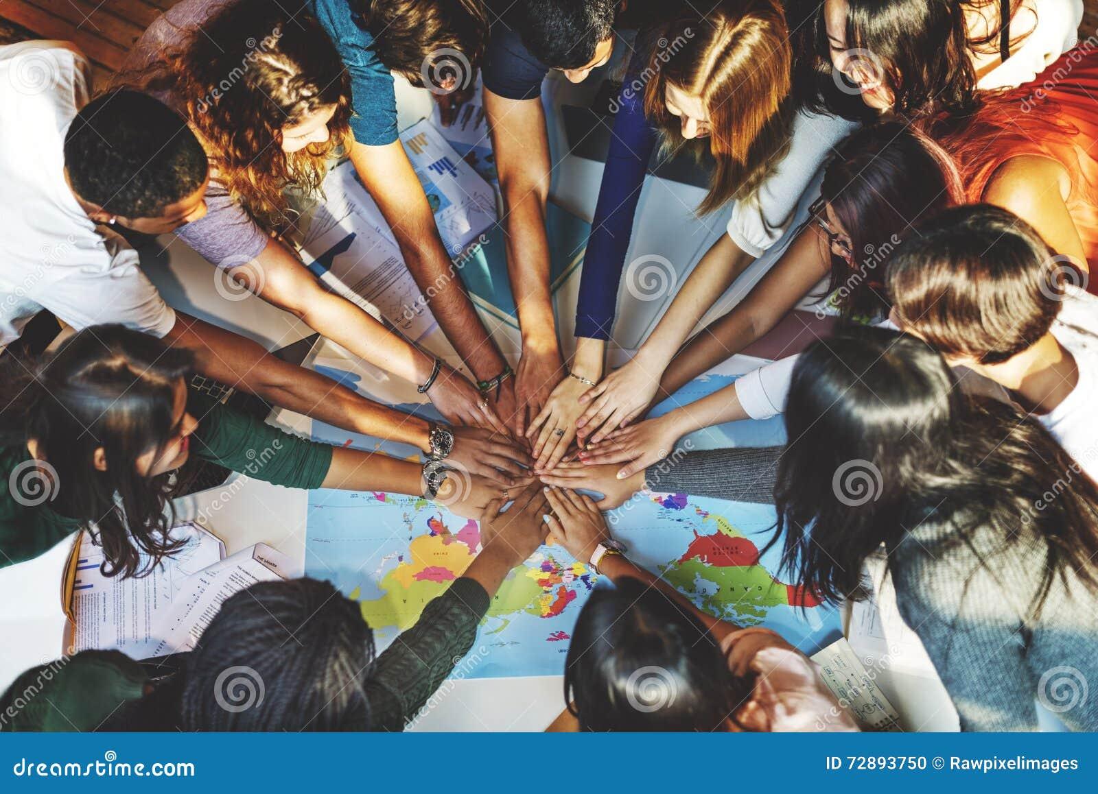 Solidaridad Team Group Community Concept del compañero de clase