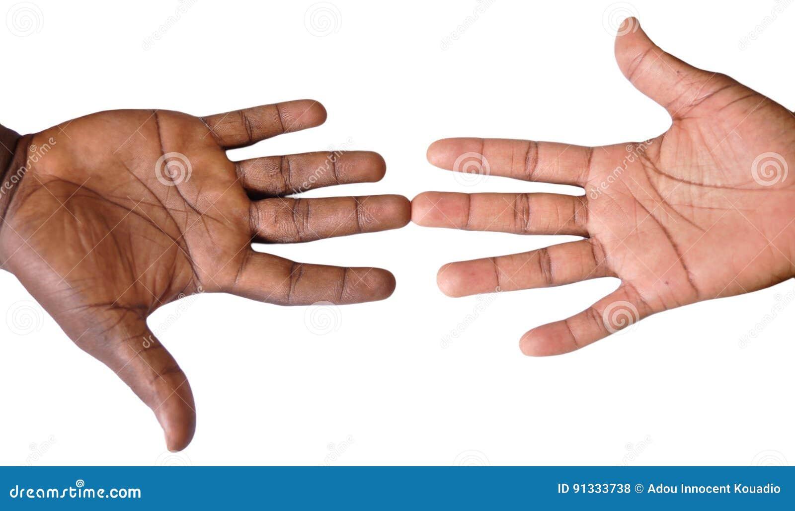 Solidaritetgest av händer