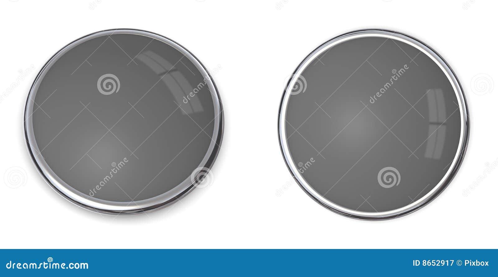Solide gris du bouton 3d 60