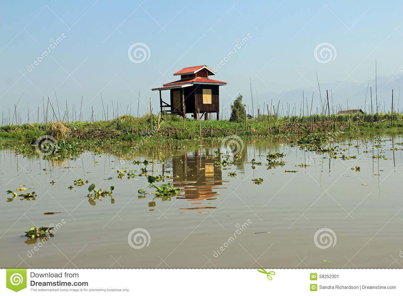 Strange A Solitary House On Inle Lake Stock Image Image Of Stilts Download Free Architecture Designs Scobabritishbridgeorg