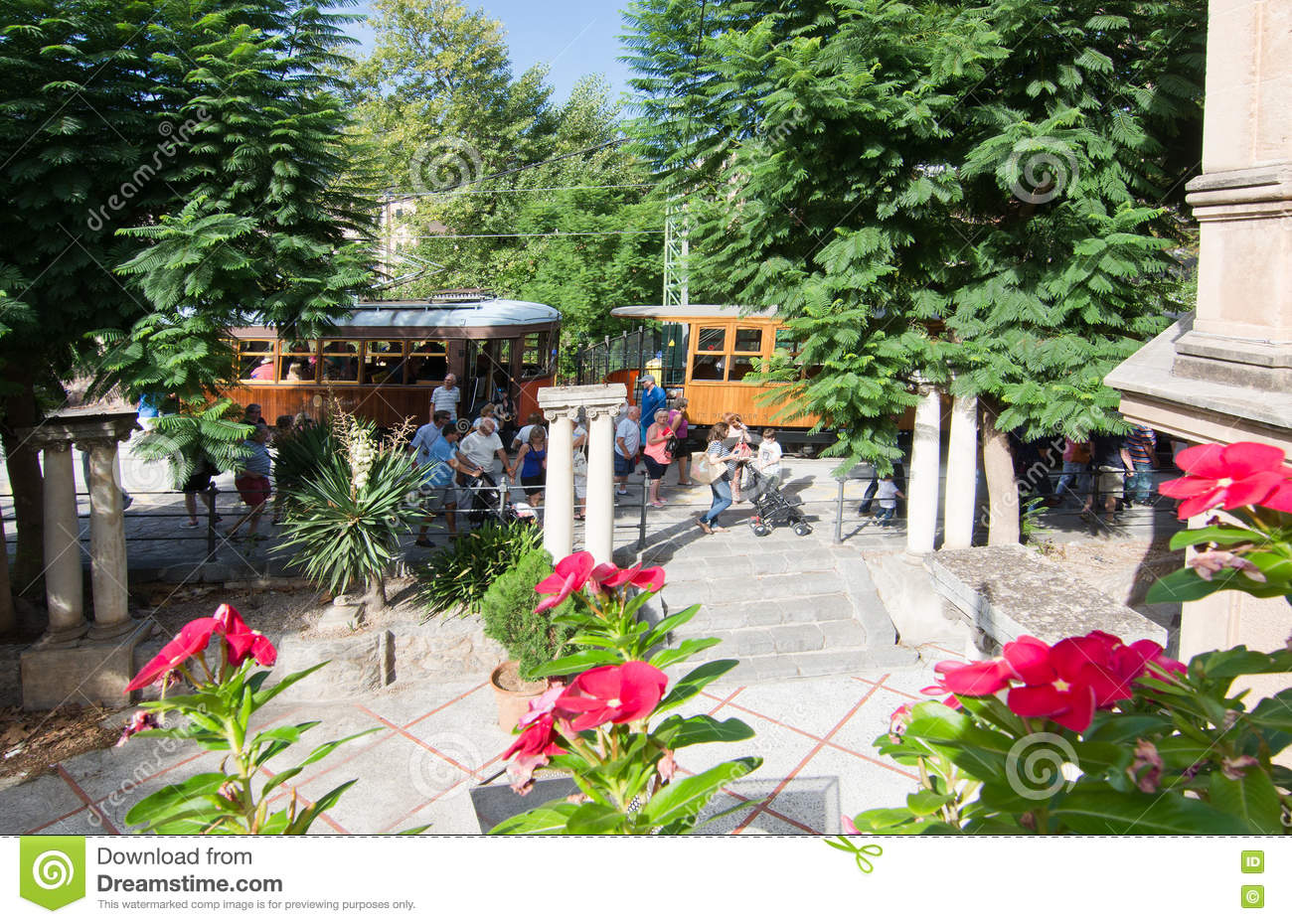 Soller Train Station With Flowers Editorial Stock Photo Image Of