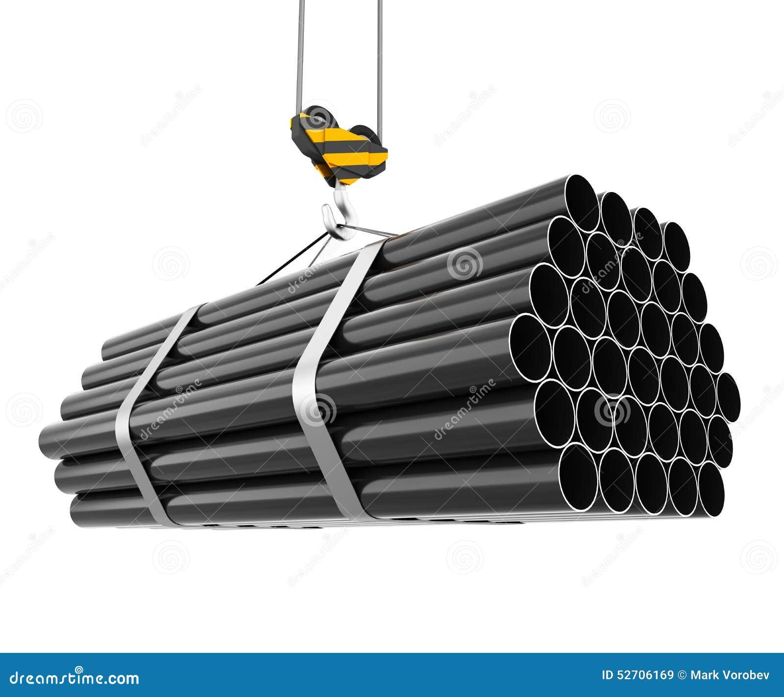 Sollevamento del gancio della gru dei tubi d 39 acciaio for Materiale del tubo della linea d acqua
